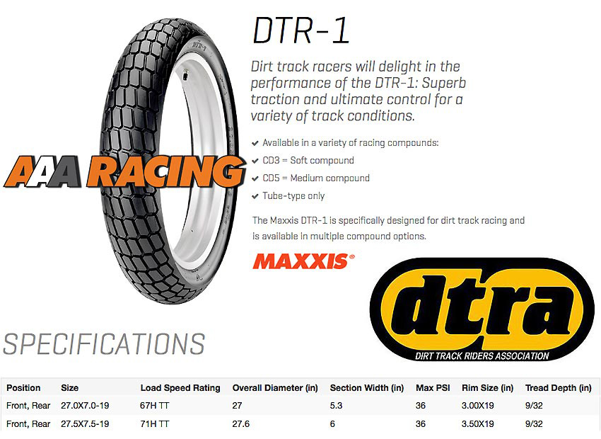 AAA Racing | Maxxis DTR1 Specifcations